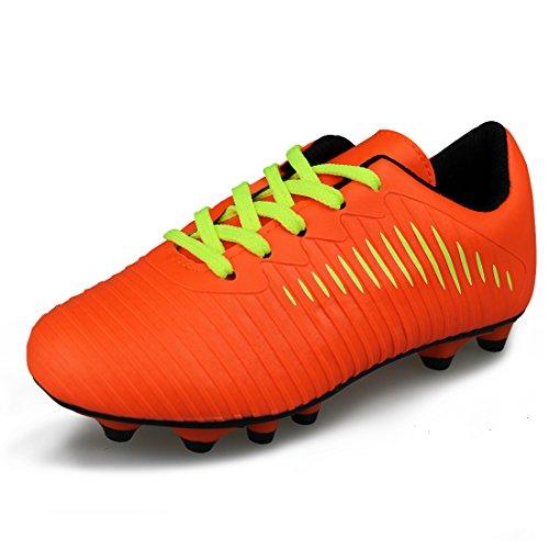 JABASIC Unisex-Kinder Classic Fußballschuhe Sportlich Draussen Boots (30,Orange)