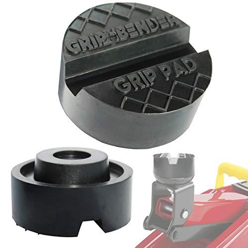 GRIP&BENDER Wagenheber-Auflage Premium Rangierwagenheber-Pad - Gummi-Puffer - Universal-Gummi-Auflage Super Stark max 3,5t Schützt Ihren Wagen Dank Hightech-Material Sicherer Halt Dank V-Nut