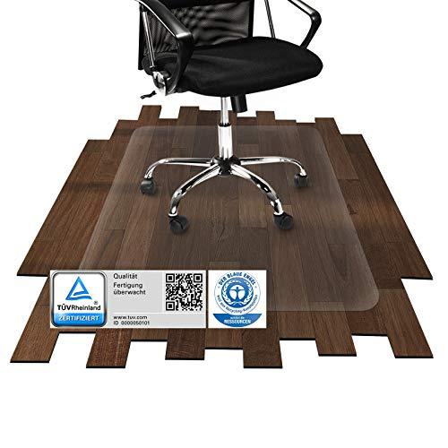 etm Bodenschutzmatte | TÜV/Blauer Engel | transparent, für Laminat, Parkett, Fliesen und Hartböden