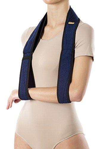 Armschlinge Armtragegurt Armbandage doppelte Schlaufe (Blau)