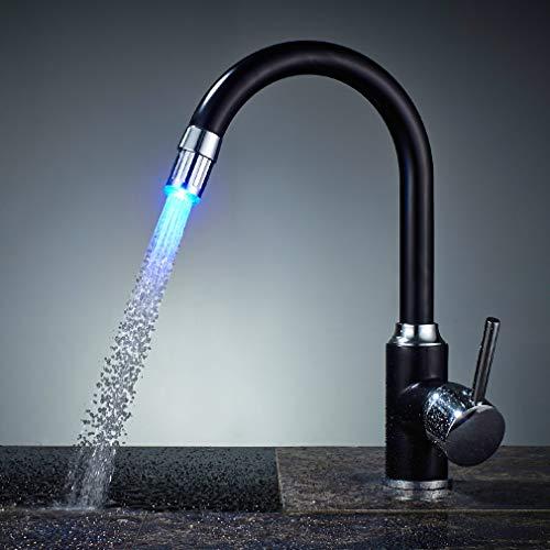 Auralum LED Küchen Wasserhahn Einhebel Spültischarmatur Einhandmischer Spüle Küche Armaturen Messing