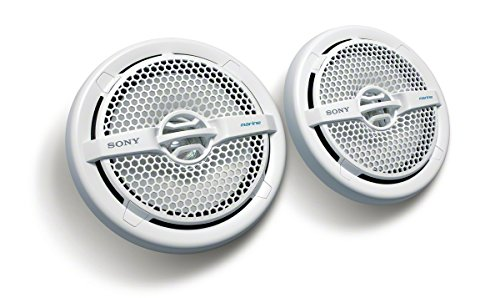 Sony XS-MP1611 Seetaugliche 15,24cm (6 Zoll) Dual-Konus-Lautsprecher (140W, resistent gegen Wasser, UV-Strahlen, Salz) weiß