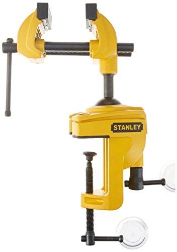 Stanley Maxsteel Multiachsen Schraubstock, mit drei Achsen durch Kugelgelenk, 25kg Spannkraft, 75mm Spannweite, 1-83-069