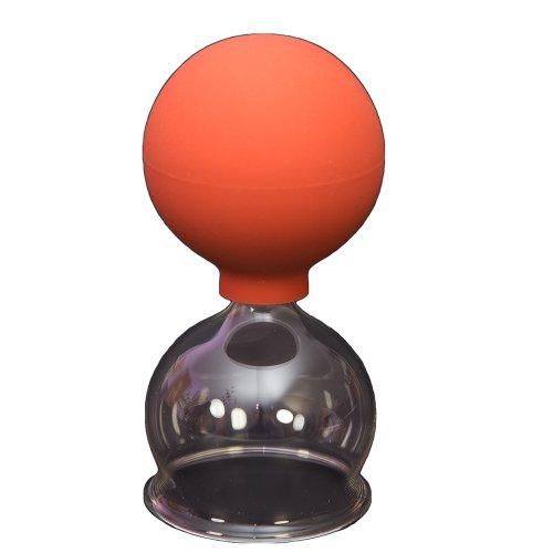 Saugnapf aus Glas mit Zerstäuber aus Gummi 50mm