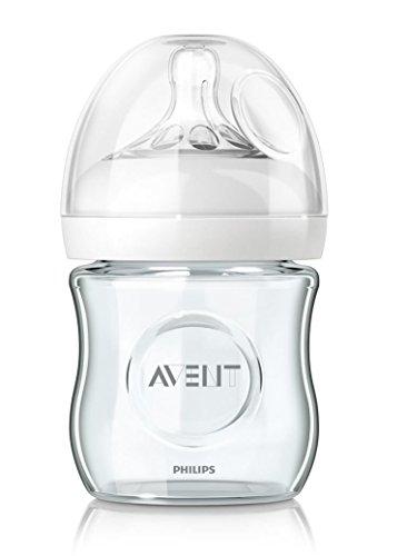 Philips Avent Naturnah-Glasflasche SCF671/17, transparent, Einzelpack, 120ml