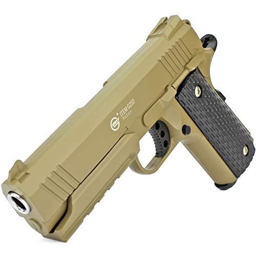 Softair Gun Airsoft Pistole + Munition | G25D. Profi Vollmetall | 20cm. Inkl. Magazin & 0,5 Joule