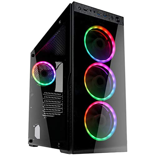 Kolink Horizon RGB Midi-Tower, Tempered Glass - schwarz