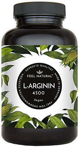L-Arginin Kapseln. 365 Stück im 2 Monatsvorrat. Hochdosiert mit 3.750 mg reinem L-Arginin als L-Arginin HCL je Tagesdosis. L-Arginin aus Fermentation. Vegan, ohne Zusätze, hergestellt in Deutschland