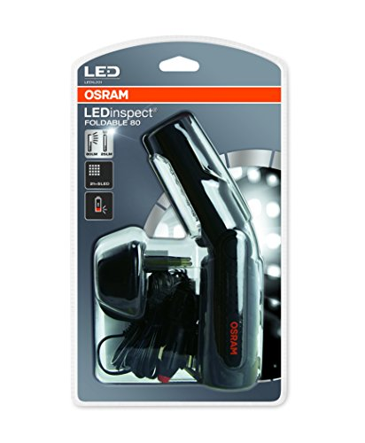 OSRAM LEDIL201 LEDinspect FOLDABLE 80, wiederaufladbare LED Inspektions- und Werkstattlampe, Arbeitsleuchte mit Akku, Faltschachtel (1 Stück)