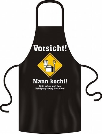 Lustige Grillschürze Kochschürze Schürze Vorsicht Mann kocht