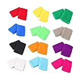 STONCEL Unisex Adult Sport029 Paar Bunte Baumwolle Schweißbänder