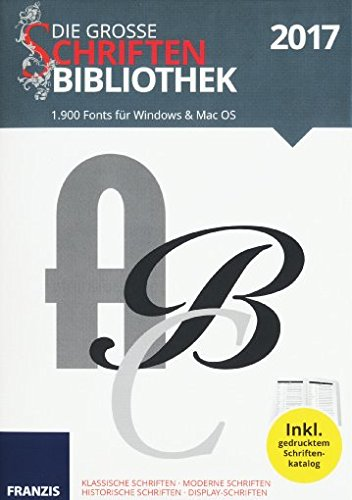 Franzis  Schriftenbibliothek (2017) für Windows & Mac OS inklusiv gedrucktem Schriftenkatalog