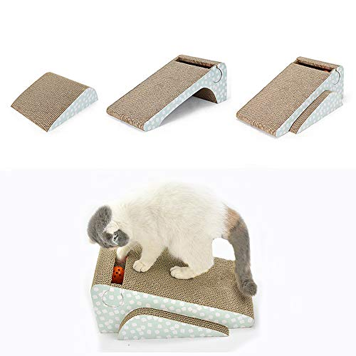 Old Tjikko Katzen Kratzbrett,Kratzbrett für Katzen mit Katzenminze,Kratzmöbel,Katzenspielzeug Beschaftigung,Katzenspielzeug Kratzmöbel Kratzmatte Kratzbretter aus Recycelbar Wellpappe