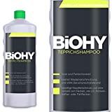 BIOHY Teppichshampoo 1 Liter Flasche - Shampoo für Teppich und Waschsauger/Teppichreiniger zur Entfernung selbst hartnäckiger Flecken und Gerüche