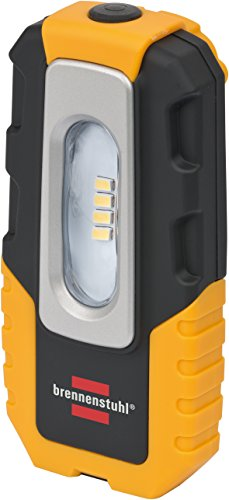 Brennenstuhl 1176440 4 LED Akku-Handleuchte HL DA 40 MH 220lm, Haken, Magnet, Clip, knickbar