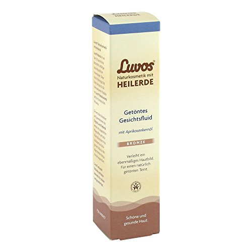 Luvos Heilerde Getöntes Gesichtsfluid - Bronze – Für Einen Ebenmäßig, Strahlenden Teint, 1 X 50 Ml, Mit Aprikosenkernöl, Naturkosmetik Ohne Mikroplastik, Vegan