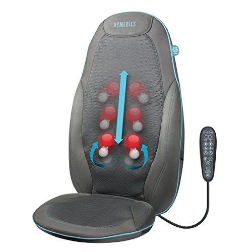 HoMedics GEL Massageauflage - Gezielte, tiefenwirksame Shiatsu Rückenmassage mit innovativer Gel-Technologie, Massage für den kompletten Rücken- und Schulterbereich, mit Wärmefunktion