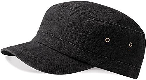 Beechfield Urban Army Cap, verschiedene Farben Vintage Schwarz