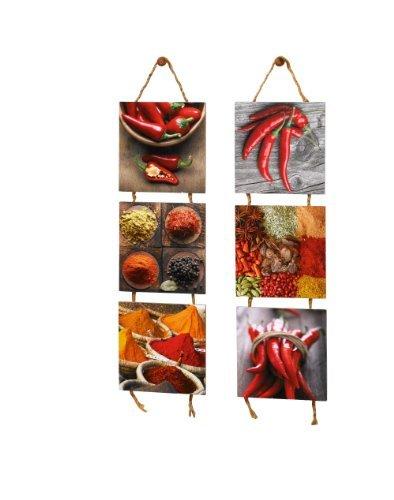 Wandhänger 'Spicy', 2er Set