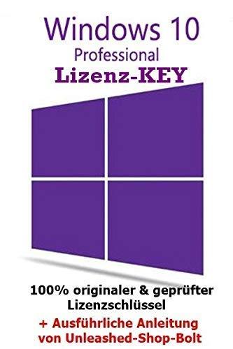 Unleashed-Shop-Bolt Microsoft Windows 10 Pro Professional Product Key - E-Mail Versand - 32 Bit / 64 Bit - Vollversion - Lizenz Key - Original Lizenzschlüssel - 1 Aktivierung