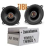Renault Twingo 1 Phase 2 Front - Lautsprecher Boxen JBL Club 5020   2-Wege   13cm Koax Auto Einbausatz - Einbauset