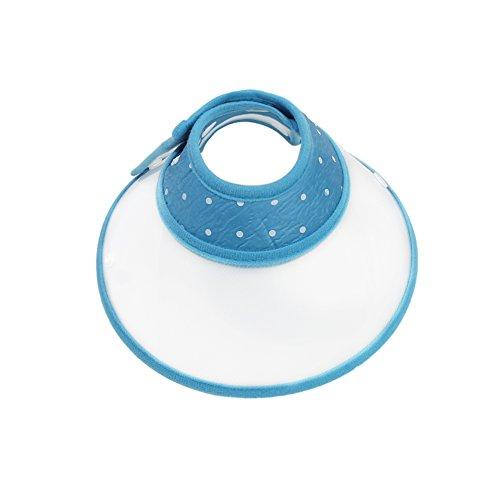 Vivifying Haustier Halskrause, Verstellbar von 17-23 cm Leichtgewicht Schutzkragen für Welpen, Kleine Hunde und Katzen (Blau)