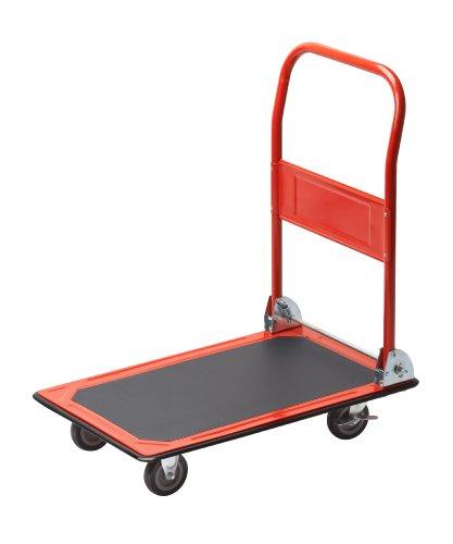 Meister Plattformwagen  Klappbar  Bis 150 kg Tragkraft  Feststellbremse | Transporthilfe mit Lenkrollen | Paketwagen mit Antirutsch-Beschichtung | Klappwagen aus Stahl | 8985400