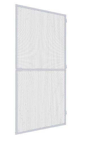 Mosquito Stop Insektenschutztür Spannrahmen-Tür Fliegengitter Alurahmen für Türen, individuell kürzbar, 100 x 210 cm, weiß, 23588