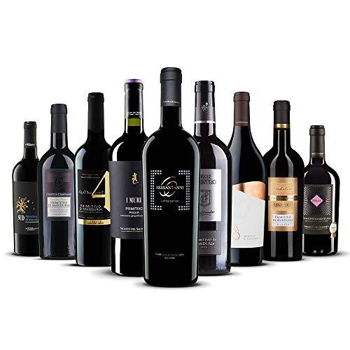Primitivo-Genießer-Paket- 9 exklusive Rotweine aus Italien! (9 x 0,75 l)