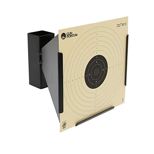 OpTacs - Kugelfang Scheibenkasten 17x17 cm Trichter aus Metall für Luftgewehr Zielscheibe