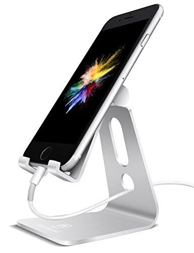 Multi-Winkel Handy Ständer, Lamicall iPhone Ständer : Handyhalterung, iPhone Dock, Wiege, Handy Halter für iPhone X / 8 / 7, 7 Plus 6s 6 / Plus, SE, 5 5s 5c, Samsung A3 A5 J3 J5 J7 S6 S7 S8, Huawei P8 P9 P10 / Lite, Honor 6X 8, Tisch Zubehör, Schreibtisch, E-Reader, andere Smartphone - Silber