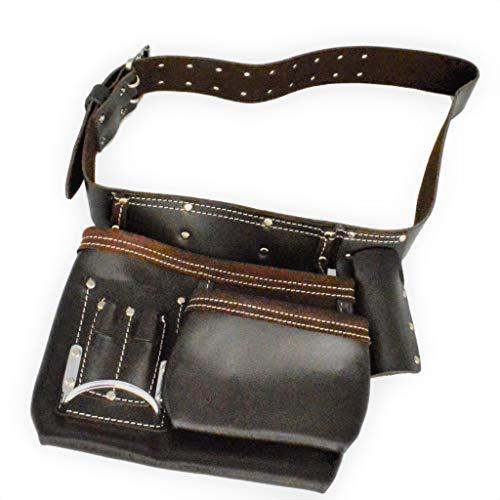 Werkzeuggürtel Werkzeugtasche geöltes Leder 5 Fächer schwere Qualität