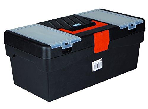 Tayg Werkzeugkoffer Basic 16 Zoll, 400 x 217 x 166 mm, schwarz / orange, 112553