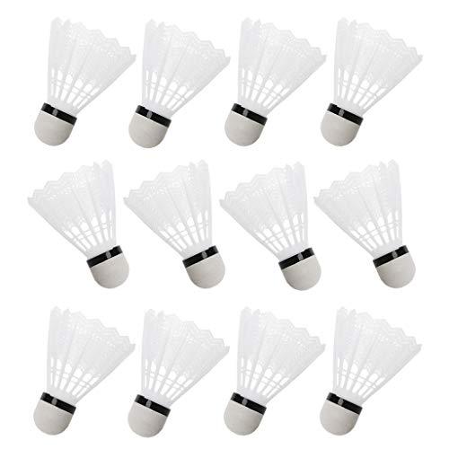 Cansenty Federbälle, Kunststoff, Weiß, 12 Stück