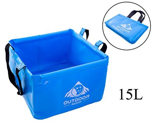 OUTDOOR PANDA: Outdoor Faltschüssel 15 Liter | Faltbare Camping Waschschüssel aus langlebigem Planen Gewebe| Platzsparende und leichte Alternative zur Plastik Spülschüssel und Spülwanne