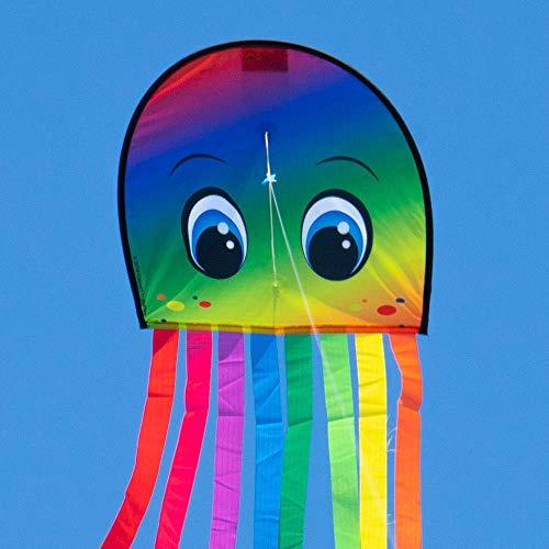CIM Kinderdrachen - DRAKI XL RAINBOW - Drachen Abmessungen: 31 x 180cm - inkl. 40m Drachenschnur auf Handgriff - für Kinder ab 3 Jahren