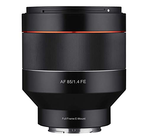 Samyang AF 85mm F1.4 Sony FE - 85mm Festbrennweite Autofokus Vollformat Objektiv für Sony Alpha Spiegellose und Spiegelreflex DSLR Vollformat APS-C Kameras mit Sony E Mount, FE Mount
