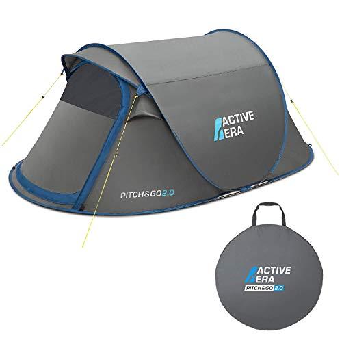 Active EraTM Premium Wurfzelt für 2 Personen - 100% wasserfestes Zelt mit verbesserter Belüftung und praktischer Tragetasche | Perfekt für Festivals und Camping