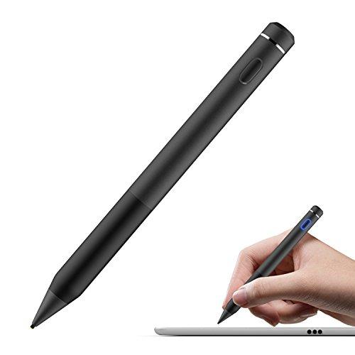 MoKo Active Stylus Stift, hohe Präzision und Empfindlichkeit Punkt 1,5 mm kapazitiven Stylus, für Touchscreen-Geräte Tablet / Smartphone iPhone X / 8/10 Plus, iPad, Samsung - Schwarz