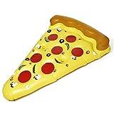 Goods & Gadgets Pizza Luftmatratze Aufblasbare Pizzastück Matratze XXL Badeinsel Schwimminsel Schwimmreifen 180x140cm
