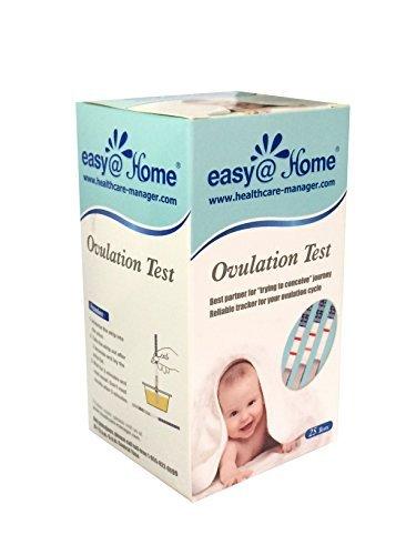 Easy@Home 25 Ovulationstest Streifen – Unterstützt durch die kostenlose Premom Ovulation APP (25 LH Tests)