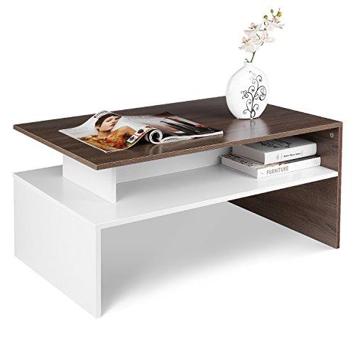 Homfa Couchtisch Wohnzimmertisch Beistelltisch Holztisch Kaffeetisch Holz 90x54x43cm