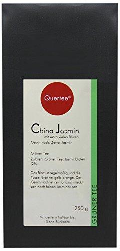Quertee Grüner Tee - China Jasmin Tee mit extra vielen Blüten - 250 g, 1er Pack (1 x 250 g)