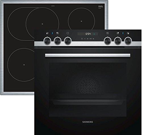 Siemens EQ521IA00 Herd-Kochfeld-Kombination (Einbau)/59,4 cm/Vollglas-Innentür/Versenkbare Drehwähler/Vier Induktions-Kochzonen/Schnellaufheizung/3D-Heißluft Plus