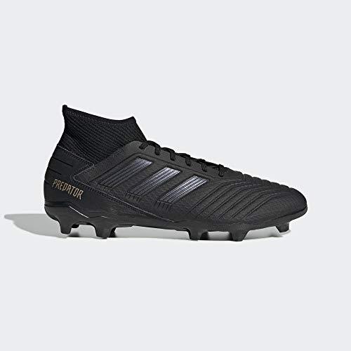 adidas Herren Predator 19.3 FG Fußballschuhe, Schwarz Core Black/Gold Met, 44 2/3 EU