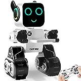 Ferngesteuerter Roboter Spielzeug für Kinder, Intelligent Interaktiver Roboter mit LED-Licht, Touch & Soundsteuerung, spricht, spielt Musik, eingebaute Spardose, programmierbares RC Roboter-Kit für Jungen, Mädchen
