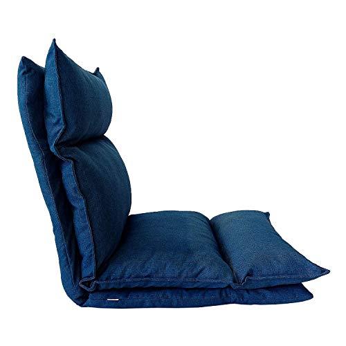 Rebecca Mobili Bodenstuhl Meditationskissen Thaikissen Yoga Blau Metall Polyesther Lesekissen Wohnzimmer Garten Haus (Cod. RE6197)