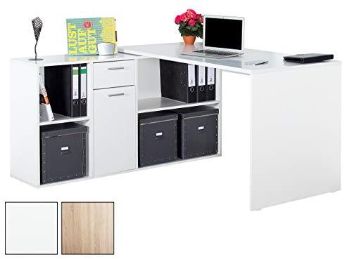 RICOO Winkelbarer Schreibtisch mit Vielseitiger Anschlagmöglichkeit | WM081
