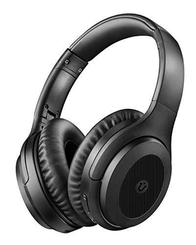 Noise Cancelling Kopfhörer Over Ear ANC Kopfhörer Utaxo Bluetooth Kabellos Faltbar Ohrhörer mit Duale 40 mm HD Tieftontöner, Eingebaut Mikro, HiFi, für Alle Geräte mit Bluetooth (30Std. Laufzeit)