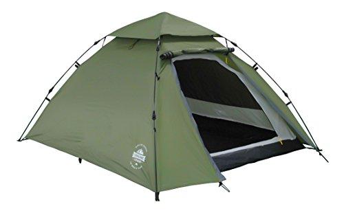 Lumaland Outdoor Pop Up Kuppelzelt Wurfzelt 3 Personen Zelt Camping Festival etc. robust verschiedene Farben Grün